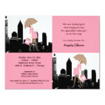 """New Baby Girl In The City Baby Shower Invitation 4.25"""" X 5.5"""" Invitation Card"""