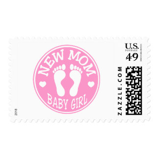 NEW BABY GIRL MOM POSTAGE STAMP