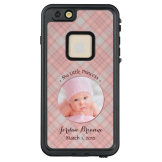 New Baby Girl My Little Princess Pink Plaid LifeProof FRĒ iPhone 6/6s Plus Case