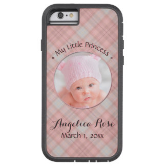 New Baby Girl My Little Princess Pink Plaid Tough Xtreme iPhone 6 Case