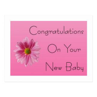 New Baby Girl  Postcard