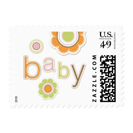New Baby Girl Retro Scrapbook stamps
