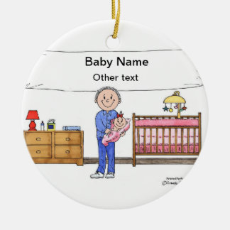 New Baby Girl - Single Dad Ceramic Ornament