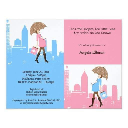 New Baby In The City Baby Shower Invitation