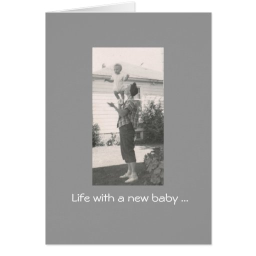 New Baby is such a balancing act! Stationery Note Card