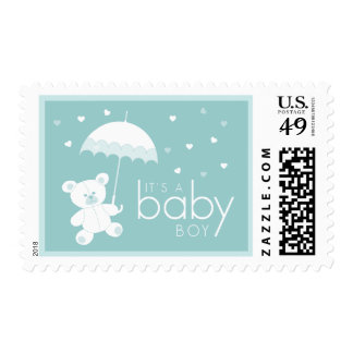 New Baby - It's A Boy - Teddy Bear stamps
