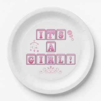 New Baby: It's a Girl! Paper Plate