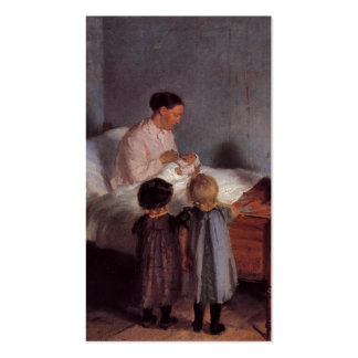 New baby little brother painting Dutch art Ancher Double-Sided Standard Business Cards (Pack Of 100)