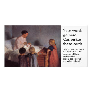New baby little brother painting Dutch art Ancher Photo Card