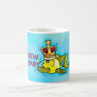 New Baby lucky goldfish wearing crown MUG