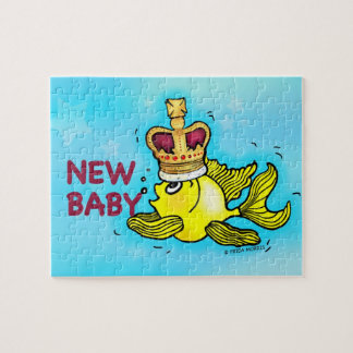 New Baby lucky goldfish wearing crown Puzzle