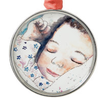 new baby metal ornament