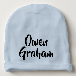 new baby name announcement baby beanie