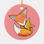 New Baby Ornament Woodland Fox Nursery Decor