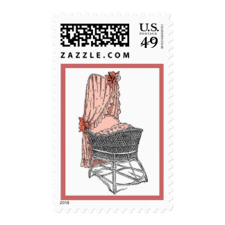 New Baby Peach Bassinet Postage