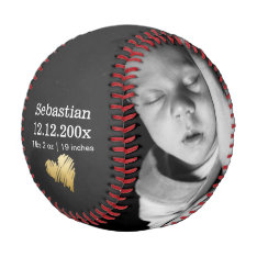 New Baby Personalized One Of A Kind Baseball at Zazzle