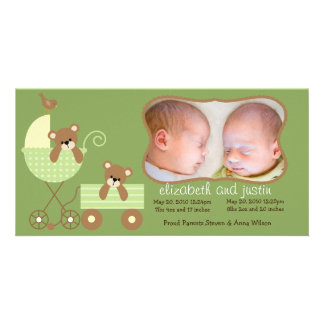 New Baby Photo Announcement Card