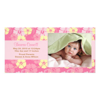 New Baby Photo Announcement Card Picture Card