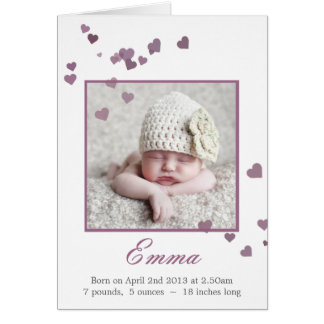 New Baby Photo Birth Announcement / Thank you Stationery Note Card