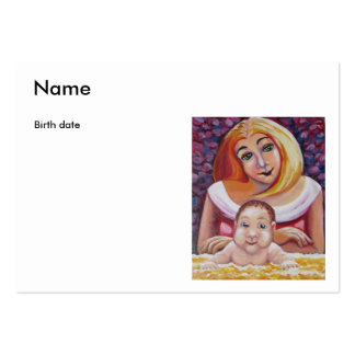 New baby photo card large business card