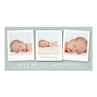 New Baby Photo Card | Multiple Photos | Green
