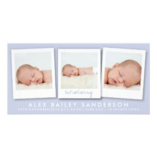 New Baby Photo Card | Multiple Photos | Lilac