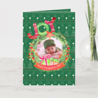 NEW Baby PHOTO Christmas Year in Review Note Card