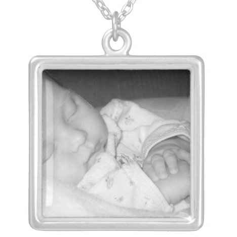 New Baby Photo Sterling Silver Necklace