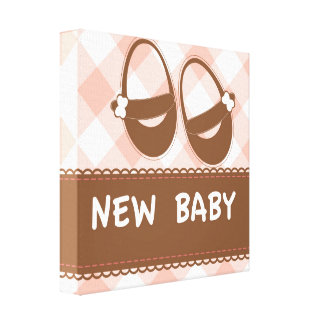 New Baby Pink and Brown Canvas Prints