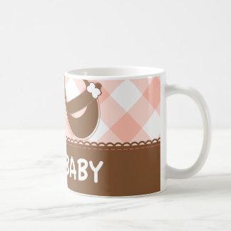 New Baby Pink and Brown Coffee Mug