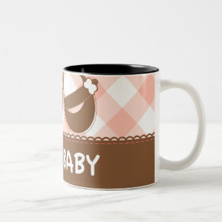New Baby Pink and Brown Two-Tone Coffee Mug