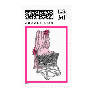 New Baby Pink Bassinet Postage