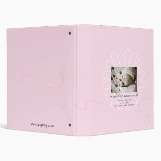 New Baby Scrapbook or Birth Announcement Book Vinyl Binders