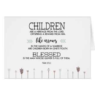 New Baby Scripture Verse with Arrows Card