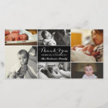 """New Baby Thank You Photo Card<br><div class=""""desc"""">Multi photo layout with various styles of &quot;thank you&quot;;   Photos courtesy of Leeds Wedding Photographer,  John Hope. Visit him at http://www.johnhopephotography.com</div>"""