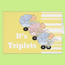 New Baby Triplet Boys and Girl Card