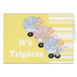 New Baby Triplet Boys and Girl Greeting Card