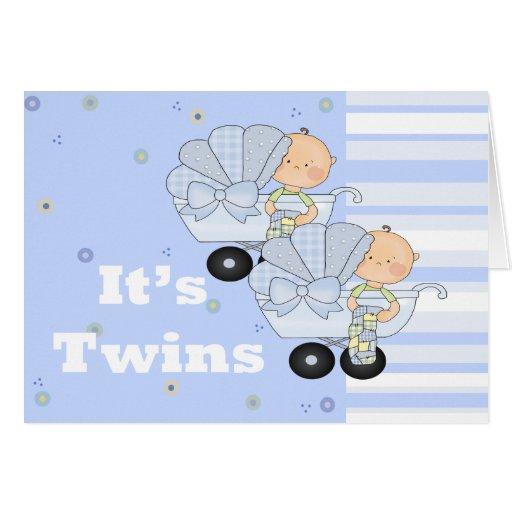 New Baby Twin Boys Card