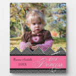 New Baby Zig Zag Chevron Modern Personalized Photo Display Plaques