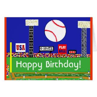 New Baseball Happy Birthday Card
