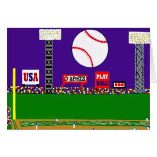 New Baseball Sports Art Blank Card or Invitation