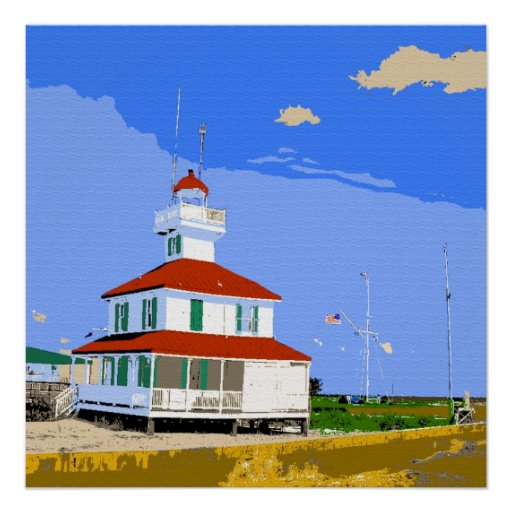 New Basin Canal Lighthouse New Orleans Poster