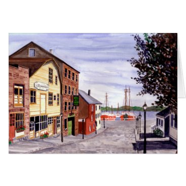 USA Themed New Bedford, Cape Cod Card