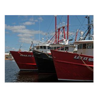 New Bedford Fishing Boats postcard