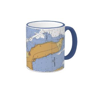 New Bedford MA. Harbor Nautical Chart Mug