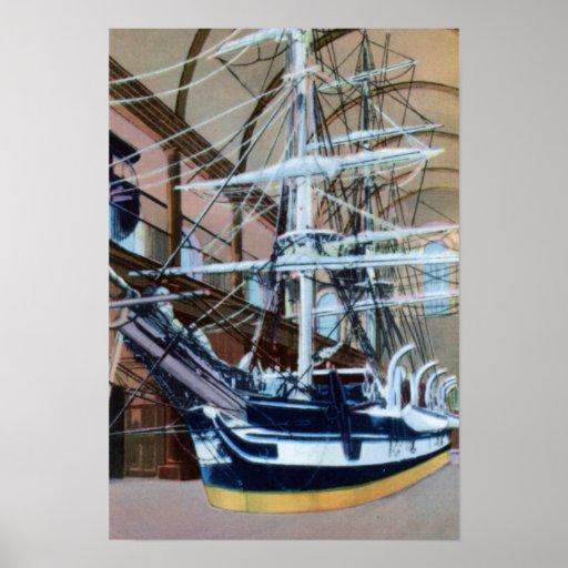 New Bedford Massachusetts la corteza Lagoda Poster