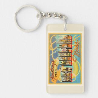 New Bedford Massachusetts MA Old Travel Souvenir Keychain