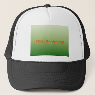 new beginning trucker hat