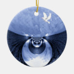 New Beginnings#1_ Double-Sided Ceramic Round Christmas Ornament
