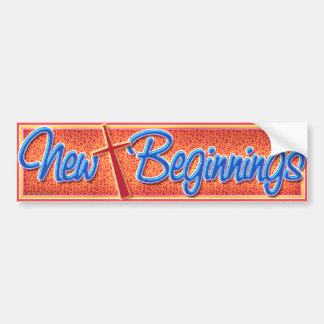 New Beginnings-2 Bumper Sticker